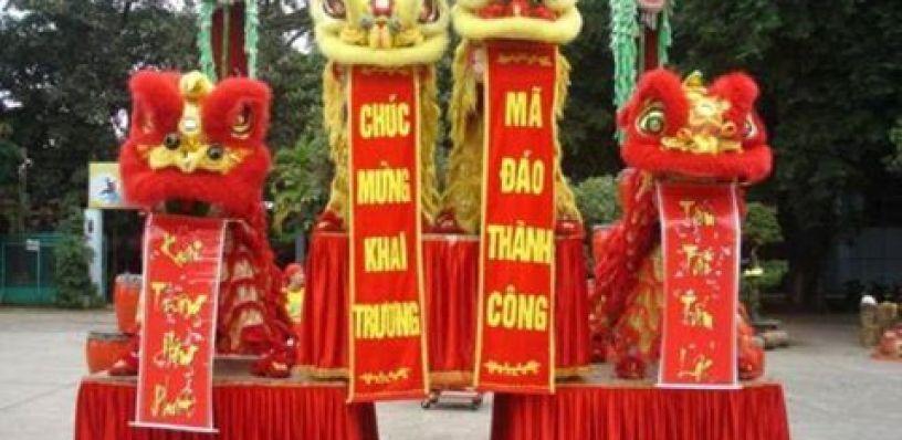 Cho thuê múa lân khai trương - Công ty tổ chức sự kiện EMA Sài Gòn